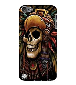 ColourCraft Skeleton Design Back Case Cover for APPLE IPOD TOUCH 5