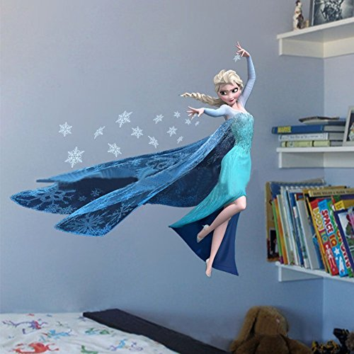Generic Frozen Queen Elsa Adorable & Sweety Home Sticker Decal DIY Family Sticker PVC Fashion Wall Decoration Sticker ZY1418