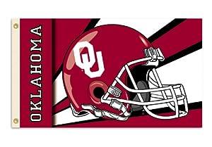 Buy NCAA Oklahoma Sooners 3-by-5 Foot Flag with Grommets - Helmet Design by BSI
