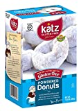 Katz Gluten Free Powdered Donuts - 10.5 oz Certified Gluten-Free Kosher Donut Pack [6 Per Box]