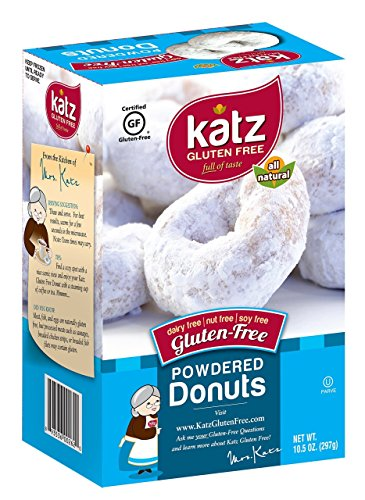 Katz Gluten Free Powdered Donuts - 10.5 oz Certified Gluten-Free Kosher Donut Pack [6 Per Box] (Gluten Free Frozen Food compare prices)