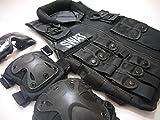 MR soldier(エムアールソルジャー) SWAT ミリタリータクティカルベスト XTAK型 プロテクター ゴーグル お得な3点セット サバイバルゲーム ミルフォース ベスト ワッペン レプリカ  サバゲー サバゲー装備 ベスト SWAT タクティカルベスト ミリタリー エルボーパッド ニーパッド 部隊