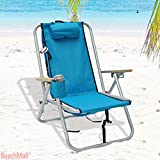 Deluxe Rio Aluminum Backpack Chair with Large Storage Pouch