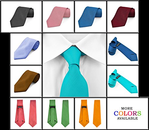 Dabung-Mens-Necktie-Solid-Colors-Men-Fashion-Tie-Polyester-Ties-57-x-35-in