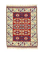 Eden Carpets Alfombra Antik Rojo/Beige 131 x 104 cm