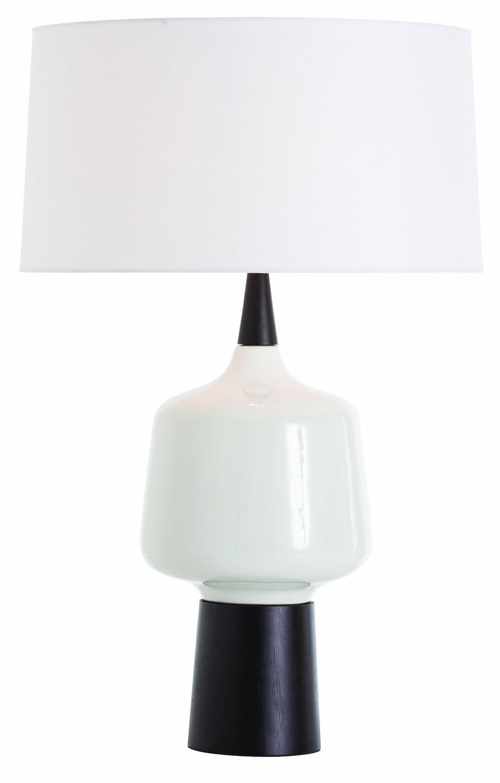 Arteriors 42436 788 Calhoun Wood Lamp Glossy Whiteebony