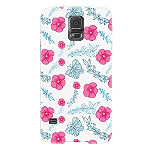 Fusion Gear Flowers Pattern Case for Samsung Galaxy S5