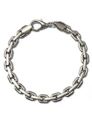 Stainless Steel Box Chain Bracelet For Men By Via Mazzini