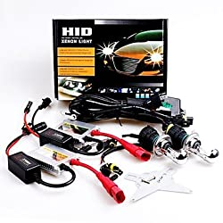 See 12V 35W H4 High / Low 8000K Slim Aluminum Ballast HID Xenon Headlights Kit Details