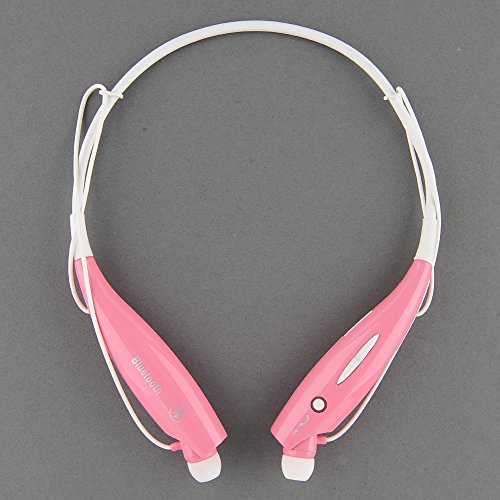 {Factory Direct Sale} Hv-800 Wireless Vibration Neckband Style Bluetooth Headset Earphone Headphone In-Ear Sports Music Stereo For Iphone, Nokia, Htc, Samsung, Lg, Moto, Pc, Ipad, Psp And So On & Enabled Bluetooth - Pink