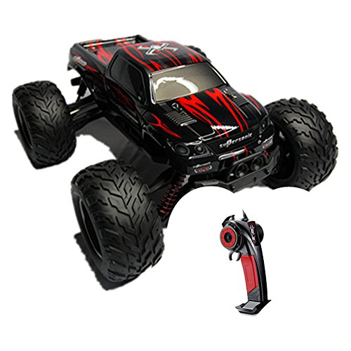 Taipove Full Proportional 2WD Brush High Speed Monster Truck with 2.4GHz Radio Remote Control Charger Included 1/12 Scale with Waterproof Electronics GPTOYS Foxx S911 (Red)