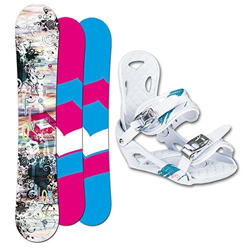 FTWO Damen Snowboard BLOOM 148 cm 2014 + Eco Bindung white SET