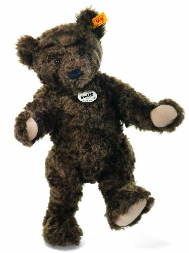 Steiff 35cm Classic 1920 Jointed Teddy Bear with Growler (Dark Brown)