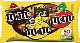 M&M\'S Variety Mix Chocolate Candy Fun Size 27.4-Ounce 50-Piece Bag