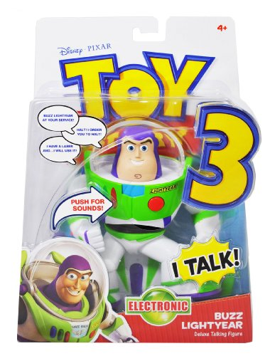 Buy Low Price Mattel Disney Pixar Toy Story 3 Movie Series 6 Inch Tall Electronic Deluxe Talking Figure – BUZZ LIGHTYEAR with Detachable Wing (B004E48Z7I)