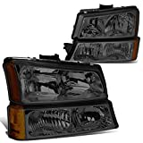 DNA Motoring HL-OH-CS03-4P-SM-AM Headlight Assembly, Driver and Passenger Side