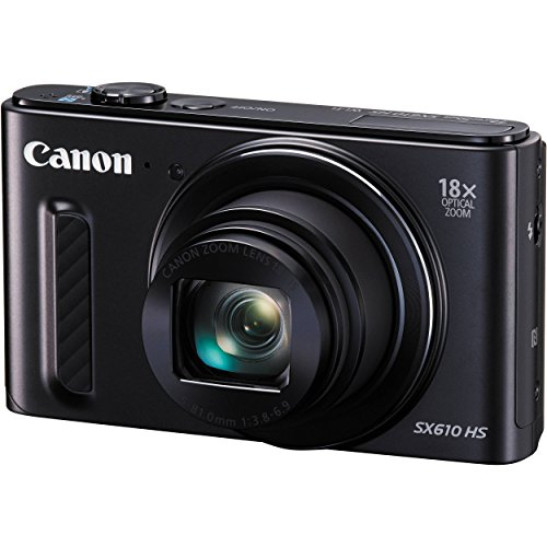 Canon PowerShot SX610 HS 20.2 Megapixel CMOS sensor 18x Optical Zoom (25-450mm)- Wi-Fi Enabled (Black)(Certified Refurbished) (Canon Powershot Elph 510 Hs compare prices)