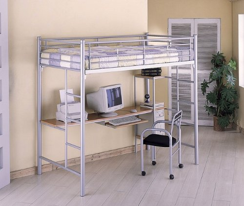 Buy Low Price Comfortable Twin Bunk Bed w/ Computer Workstation and Chair (B0009HGQHA)