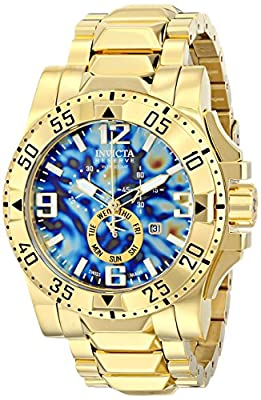 Invicta Men's 15975 Excursion Analog Display Swiss Quartz Gold-Tone Watch