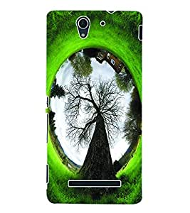 ColourCraft Fantasy Tree Back Case Cover for SONY XPERIA C3 D2533