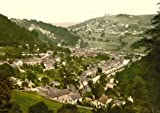 Matlock Bath, from Heights of Jacob, Derbyshire England, Large Old Photograph, Print, Picture,Photo
