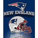 """New England Patriots Fleece Blanket 50"""" x 60"""""""