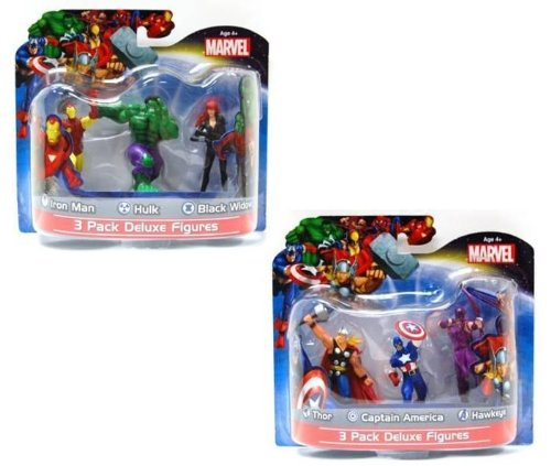 Marvel-Avengers-Exclusive-4-Action-Figure-Set-of-6-Includes-Thor-Captain-America-Iron-Man-Hulk-Black-Widow-Hawkeye