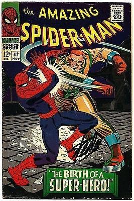 Stan Lee Hand Signed Spiderman #42 Comic Book Graded Gem Mint 10! V079