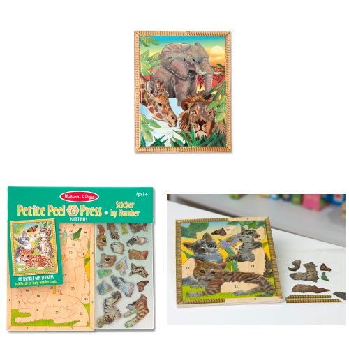 Melissa & Doug Peel & Press Petite Bundle - Animals - 1