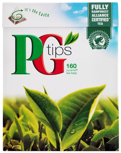 PG Tips 160 Pyramid Teabags 500 g (Pack of 4)