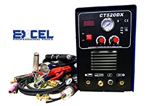 Excel 50a Plasma Cutter 200a Tig Arc Mma Welder 110v220v Welding Industrial Grade 3-in-1 from Excel Professional Tools
