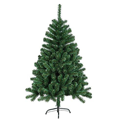 SAILUN-150cm-knstlicher-Weihnachtsbaum-Christbaum-Tannenbaum-mit-Metallstnder-Minutenschneller-Aufbau-mit-Klappsystem-150cm-Grn-PVC
