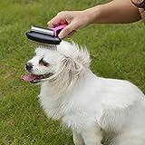 GHB Hundebürste Bürste Pflegewerkzeug 3 in 1 professionelles Fellpflegewerkzeug Fellbürste Deshedding Pflegenbürste für kleine, mittelgroße Hunde und Katzen, Reduziert Haarausfall drastisch -