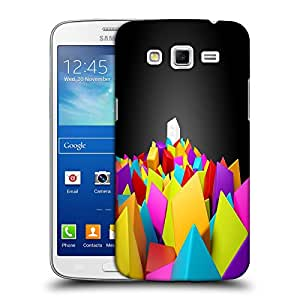 Snoogg Colorful Blocks Designer Protective Back Case Cover For Samsung Galaxy Grand 2