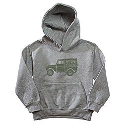 Kids' Land Rover Series 1 Est. 1948 Heather Grey Hoodie