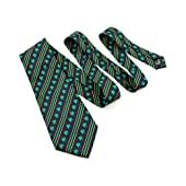 Celtic Tie Collection Necktie-Diagonal Stripes with Shamrocks