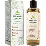 Natural Water Based Lube - Sexual Lubricant for Sensitive Skin - Personal Moisturizer for Women and Men - Silicone Free Gel for Sex with Aloe and Carrageenan - Smooth Glide - PH Balance - Sex Toy Safe