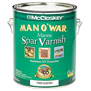 Amazon.com: McCloskey/Valspar Spar Varnish - # 7505 Man O' War - 1 ...