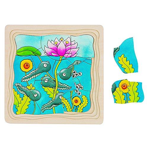 Goki 57524 - Schichtenpuzzle - Der Frosch