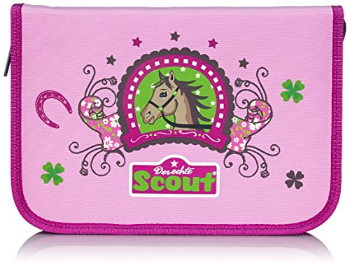 Scout Schulranzen-Set Etui 6 tlg Lucky Horse 20 cm Pink 66100070100