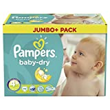 Pampers Baby Dry Size 4 + Maxi Plus 9-20kg Jumbo Plus Pack 76 pieces