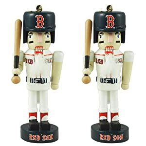 Boston Red Sox Mini Nutcracker Ornament Set