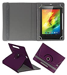 ACM ROTATING 360° LEATHER FLIP CASE FOR XOLO PLAY TEGRA NOTE TABLET STAND COVER HOLDER PURPLE
