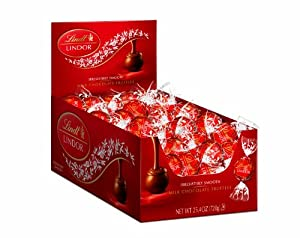 Lindt LINDOR Milk Chocolate Truffles ,60 Count Box