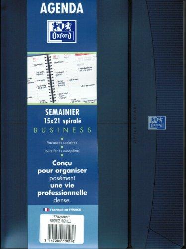 """Lecas - Agenda semainier """"Office"""" 2013 - 100 x 150 mm - Horizontal - Elastique - Bleu"""