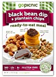 GoPicnic Ready-To-Eat Meals: Black Bean Dip &amp; Plantain Chips, 4.2 Ounce (Pack of 6)