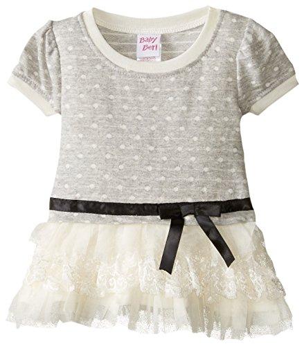 Blueberi Boulevard Baby-Girls Newborn Ribbon Sweater Set, Cream, 3-6 Months