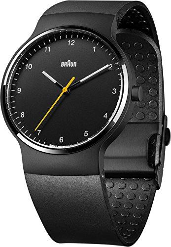 Braun - BN0221BKBKG - Montre Mixte - Quartz - Analogique - Bracelet Caoutchouc noir