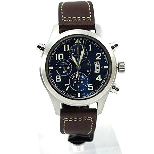 iwc-homme-44mm-bracelet-cuir-marron-boitier-acier-inoxydable-automatique-cadran-bleu-montre-iw371807