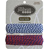 Jillibean Soup Navy/Red-Navy Bean Stalks Twine